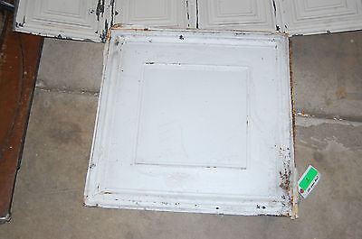 vintage antique tin ceiling panel great wall art, architectural salvage decor