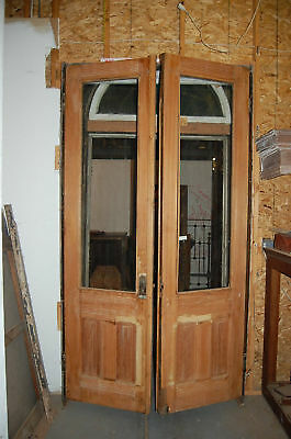 Double Panel Door Set Antique Vintage Retro Architectural Salvage