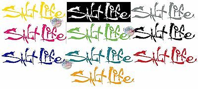 New Salt Life Signature UV Rated Weatherproof Decal Sticker