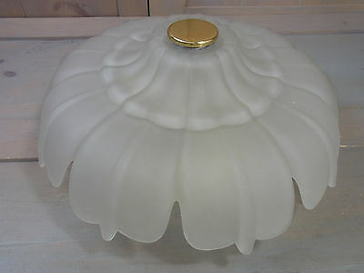LA2/201 * Gorgeous Glass Flower Blossom Flush Mount Lamp Vintage German 1960's