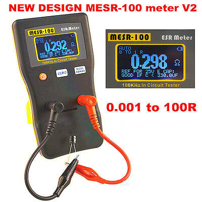 MESR-100 Auto Ranging Capacitor In Circuit Tester ESR Meter Up to 0.001 to 100R