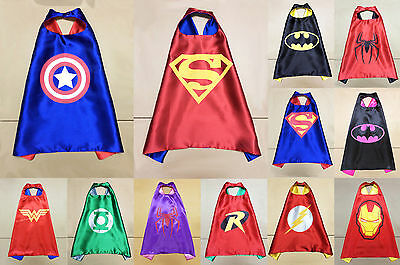 Children Boys / Girls Super Hero Cape Kid Fancy Dress Costume Outfit