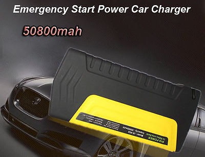 AU Portable 50800mAh Car Vehicle Jump Starter Power Bank Charger Boat 12V 600A
