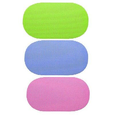 New 4 8 12 Pack Oval Dining Eating Table Mat Non Slip Wipe Clean Place mats