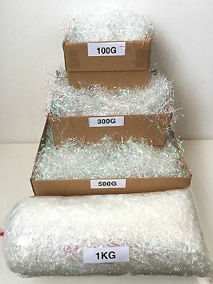 Shredded Iridescent & Clear Cellophane Mixed Rainbow Effect Gift Packaging
