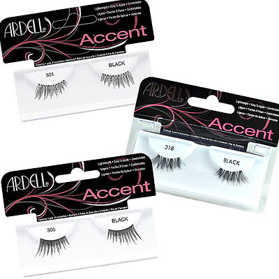 Ardell Accents False Faux Natural Eyelashes Half Lashes Style 301 305 318 MakeUp
