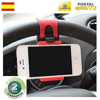 Soporte De Coche Para Volante  Movil Iphone 4 5 6 Plus Nokia Smarthphone