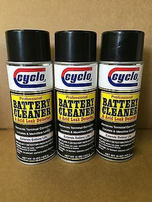 FREE PRIORITY SHIP 3: Professional Cyclo Battery Cleaner and Leak Detector Spray