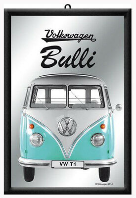 Framed Bar Mirror VOLKSWAGEN BULLI VW-T1 Kombi Bus 20x30cm Combi Licensed