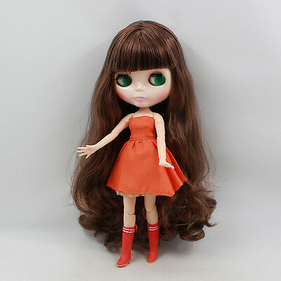 """12"""" Neo Blythe Doll Long Hair from Factory Special Body Nude Doll 71004"""
