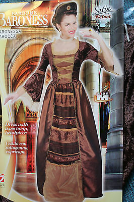 Exclusives Lady Anne Baroness Kostüm Gr.M Fasching Karneval Neu