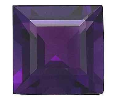 Natural African Amethyst Deep Purple AAA Square Loose Gemstones (2x2mm - 8x8mm)