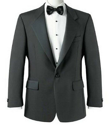 Mens Brook Taverner Formal Tuxedo Dinner Jacket Black Prom,cruise Bnwot