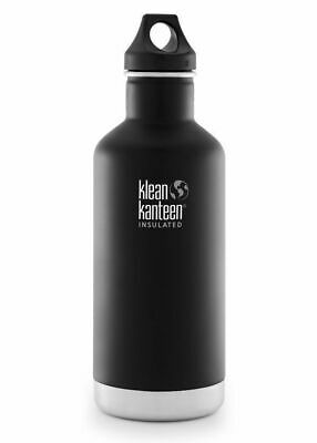 KLEAN KANTEEN CLASSIC INSULATED 32oz 946ml SHALE BLACK BPA FREE Water Bottle
