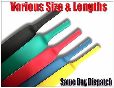 1mm - 25mm HEATSHRINK HEAT SHRINK TUBING TUBE CABLE WIRE CAR ELECTRICAL
