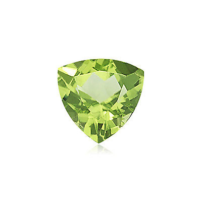 Natural Genuine Peridot AAA Trillion Faceted Shape Loose Stone (4x4mm - 8x8mm)