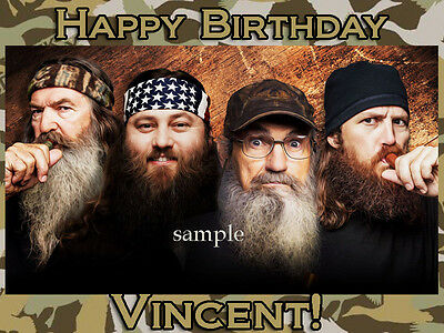 DUCK Dynasty Edible Photo CAKE Topper ICING Image FREE SHIPPING