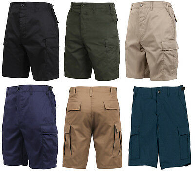 BDU Cargo Shorts Solid Colors Military  Rothco