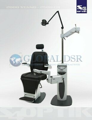 S4OPTIK NEW 2500 Examination Chair w/ 2000 Instrument Stand Complete Exam Lane