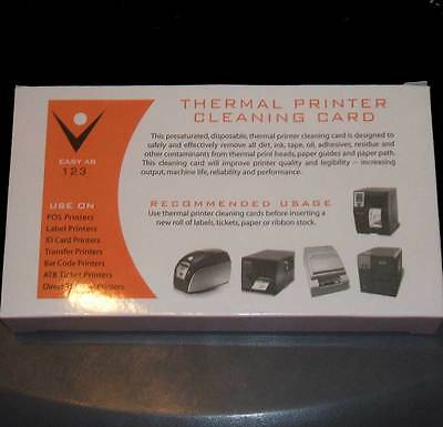 Thermal Receipt Printer Cleaning Cards Box of 25 3 1/8 80mm wide