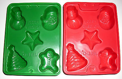 2 Jello Jiggler Christmas Holiday Molds for Jello/Shots/Candy/Soap