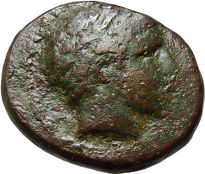 Kings of Macedon Philip II Ancient Greek Coin AE Nude Athlete Apollo Horse 353BC