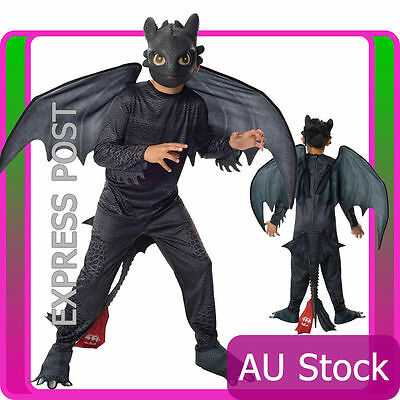 Licensed Boys Kids Toothless Night Fury Costume Child How to Train Your Dragon 2