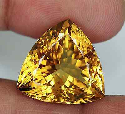 Genuine (Natural) Golden Citrine AAA Trillion Loose Gemstones (3x3mm - 8x8mm)
