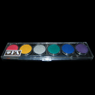 Diamond FX 6 Colour Face Paint Palette - Metallic!