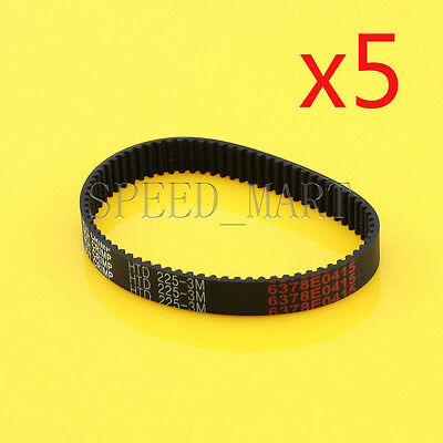 5PCS 225-3M HTD 3mm Timing Belt 75 Tooth Cogged Rubber Geared 10mm Wide CNC
