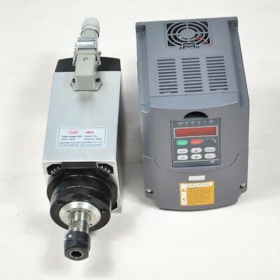 3KW ER20 Air-cooled Spindle Motor 4 Bearings w/ Matching 3KW VFD Inverter Drive