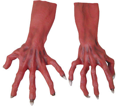 Morris Costumes Ultimate Accessories & Makeup Hands & Feet Red Gloves. TH151