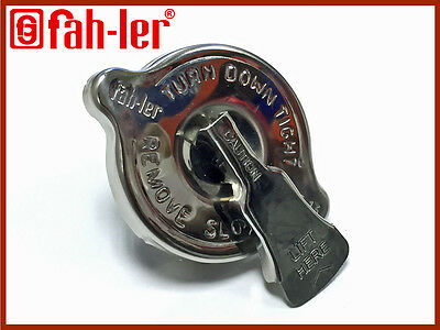Fahler Stainless Steel Radiator Cap With Release Valve 13lbs For Classic Fords