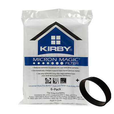 Genuine Kirby Micron Magic HEPA Filtration Universal Style + 1 Non Genuine Belt