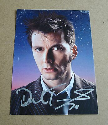 DAMAGED David Tennant Signed Official 6x4 Promo Card Autograph Doctor Who + COA