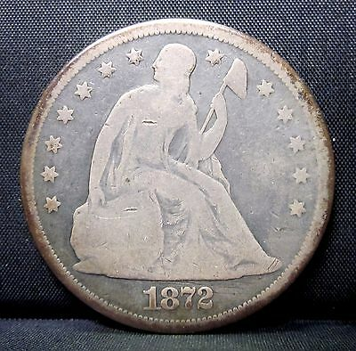 1872-P $1 Seated Liberty Dollar ✪ Good G ✪ Circulated L@@k Silver ◢Trusted◣