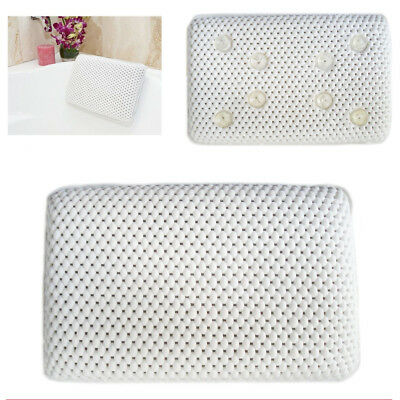 Relaxing Spa Bath Tub Pillow Cushion Soft Foam Pillows Head Rest Suction Spongy