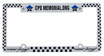Chicago  Police Memorial Plastic Plate Frame