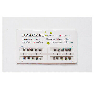 "Dental Orthodontics Brackets Braces 3 4 5 hooks Roth .022"" slot Mini 20pcs/set"