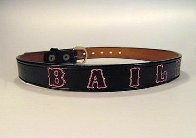 Children's Custom Leather Name Belt Personalized with a Name or Phrase