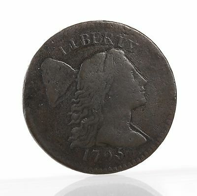 Raw 1795 Flowing Hair 1C Copper Large Cent Circulated Great Detail Plain Edge