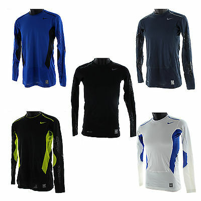 Nike Men's Pro Combat Hypercool Clampdown LS Compression Base Layer Shirt 451656