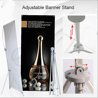 """Adjustable Aluminum Banner Stand Fits Any Banner Size from 24""""X63"""" to 32""""X78"""""""