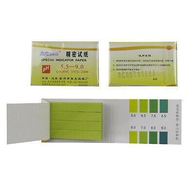 Precision PH Indicator,PH 5.5-9.0 Test Indicator Paper,80Strips/Pack*5Pcs