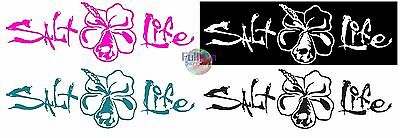 New Salt Life Signature Hibiscus Flower UV Rated Weatherproof Decal Sticker
