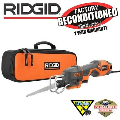Ridgid R3031 6 Amp Pro Compact Reciprocating Saw Kit ZRR3031 Reconditioned