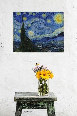 Vincent Van Gogh Starry Night Vintage Wall Art Poster Print Picture Giclee