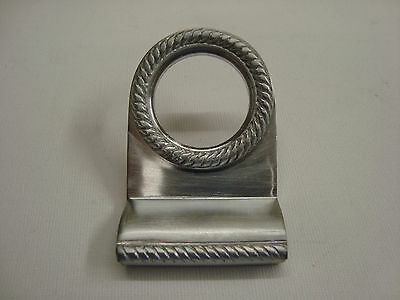 Satin Chrome Georgian Style Rim Cylinder Pull