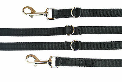 11ft Long Police Style Dog Training Lead Double Ended Leash 20mm Cushion Webbing
