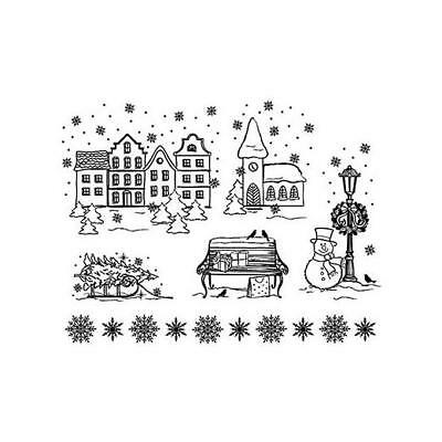Viva Decor A5 Clear Silicone Stamps Set - Christmas Town #67